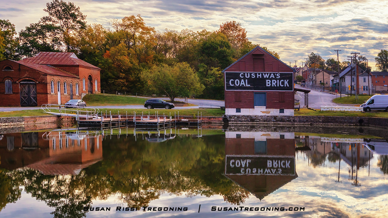 A Quiet Morning at the Cushwa Basin in Willimasport, Maryland is part of the C&O Canal National Historical Park.
