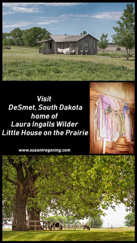 Picture - A day spent on the prairie visiting the homes of Laura Ingalls Wilder author of Little House on the Prairie in DeSmet, South Dakota.