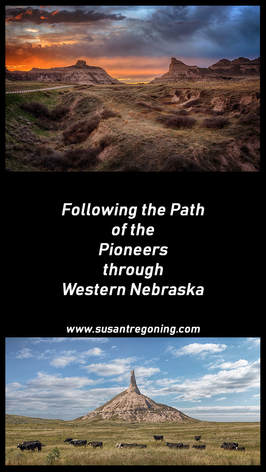 Blog Post ~ Following the Path of the Pioneers through Western Nebraska. A look at the famous landmarks the pioneers passed on their way out west.